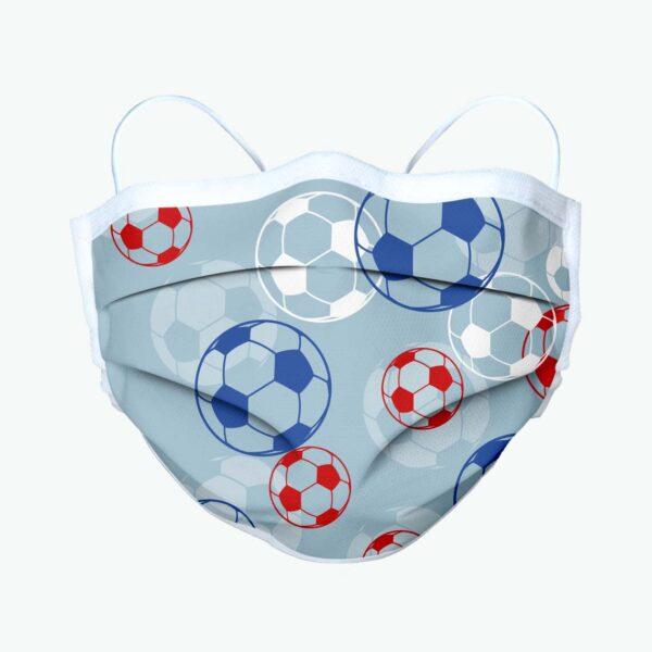 Mascherina personalizzata per bambini a tema sportivo